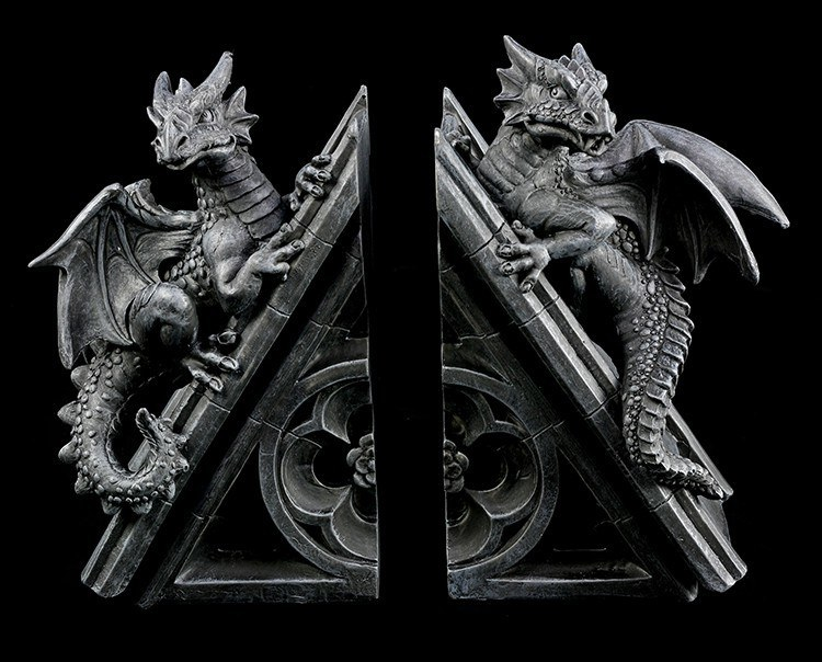 Dragon Bookend pair