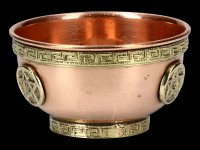 Ritual Copper Bowl with Pentagram