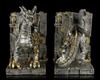 Steampunk Dragon Bookends - Dracus Machina