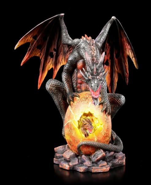 Lava Dragon Figurine watches Brood