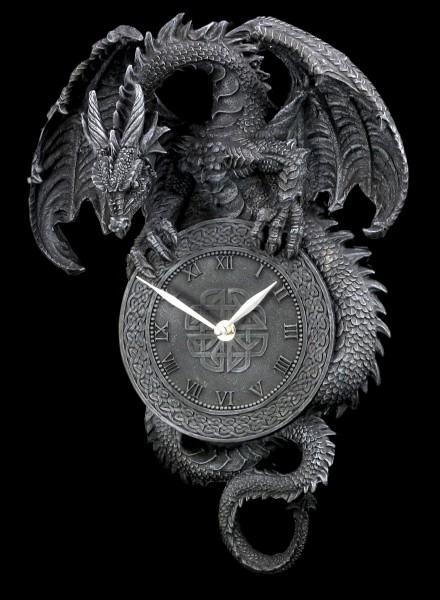Drachen Wanduhr
