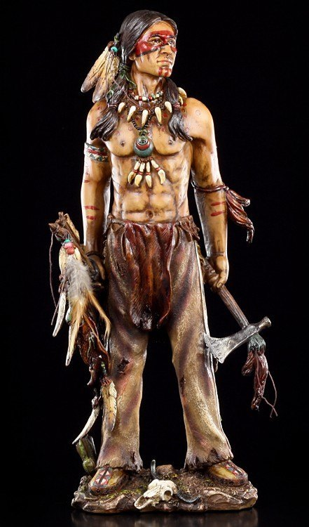 Indian Figurine with Tomahawk