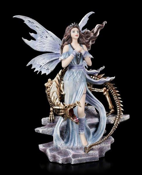 Elfen Figur - Mira mit Drachen Skelett