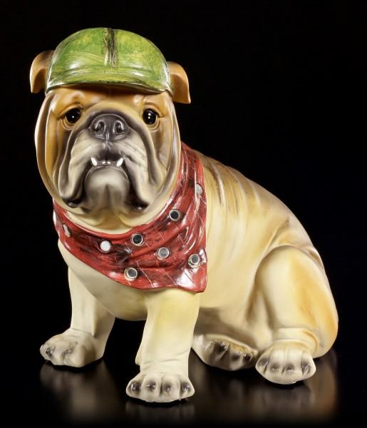 Lustige Hunde Figur - Bulldogge - Curious Dogs