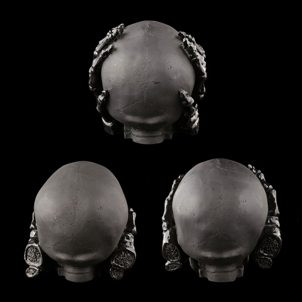 Skull Set of 3 - No Evil - black