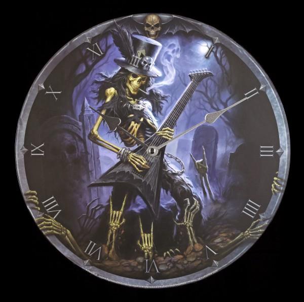 Wanduhr - Skelett Gitarrist - Play Dead