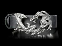 Alchemy Dragon Leather Wriststrap - Maelstrom