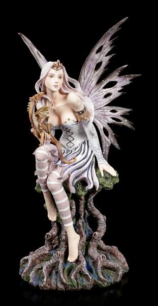 Große Elfen Figur - Keoni mit Drache
