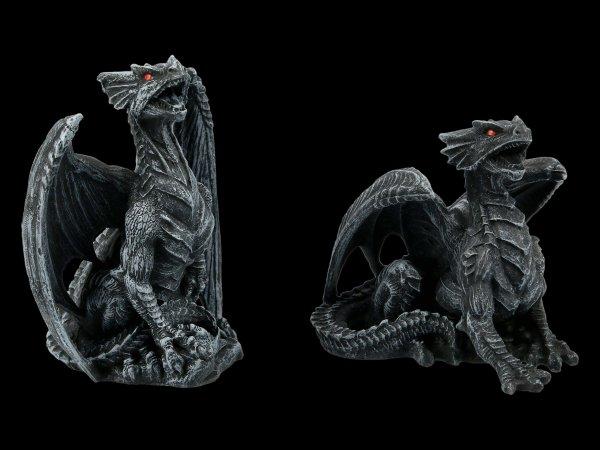 Dragon Figurines Set of 2 - Dark Fury