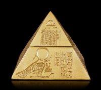 Schatulle - Pyramide mit Hieroglyphen