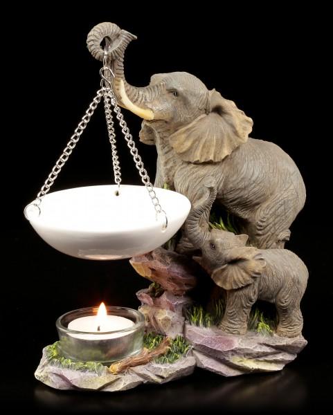 Duftlampe - Elefanten Familie
