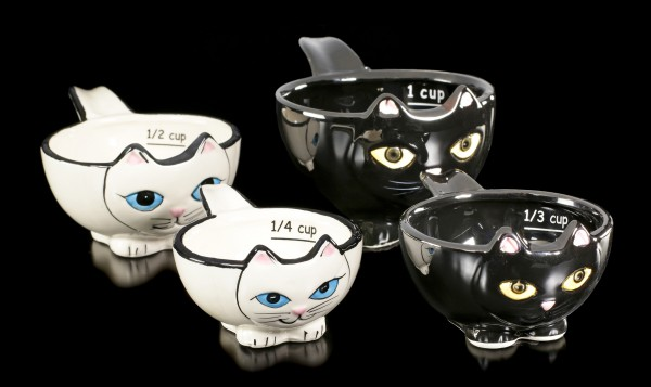 Measuring Cup Set - Black and White Cats