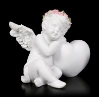 Angel Figurines - Cherubs with Heart - Set of 2