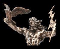 Zeus Figur mit Adler und Blitz