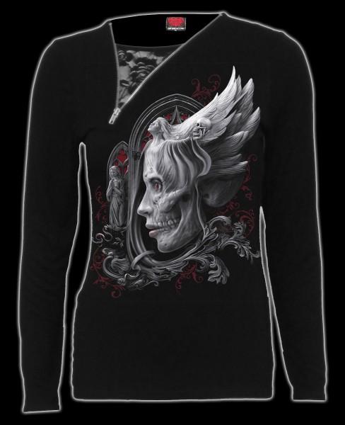 Damen 2in1 Longsleeve Gothic Engel - Dark Fusion