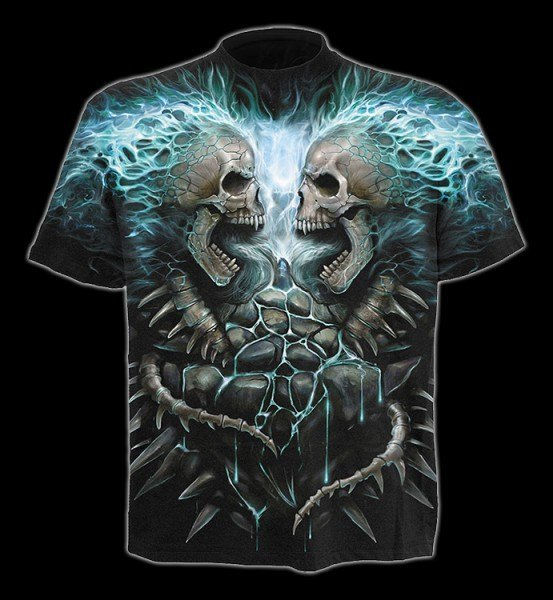 Flaming Spine - T-Shirt