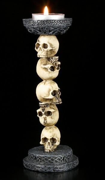 Tealight Holder - Skull Column