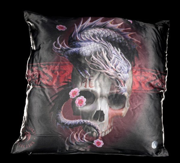 Kissen mit Drache - Eastern Dragon Skull