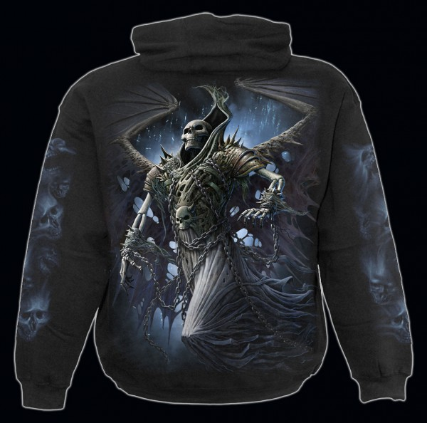Spiral Reaper Kapuzenpullover - Winged Skeleton