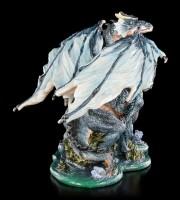 Drachen Figur - Blauer Drache