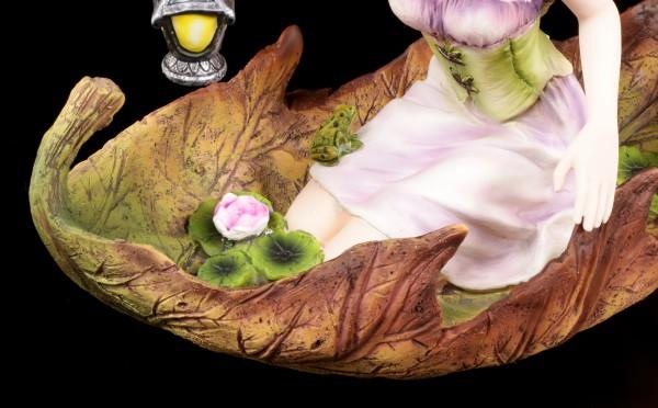 Elfen Figur - Luminosa in Blatt knieend