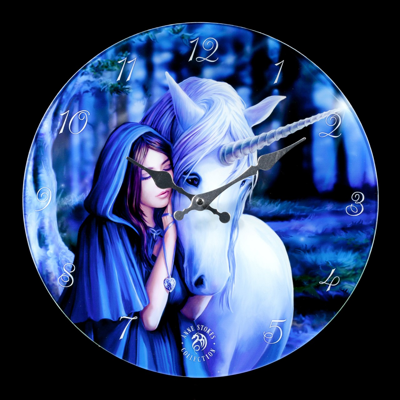 Glass Wall Clock with Unicorn - Solace