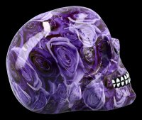 Colourfull Skull with Roses - Purple Romance