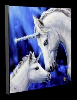Large Crystal Clear Picture with Unicorns - Sacred Love