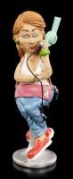 Funny Job Figur - Friseurin mit Haartrockner