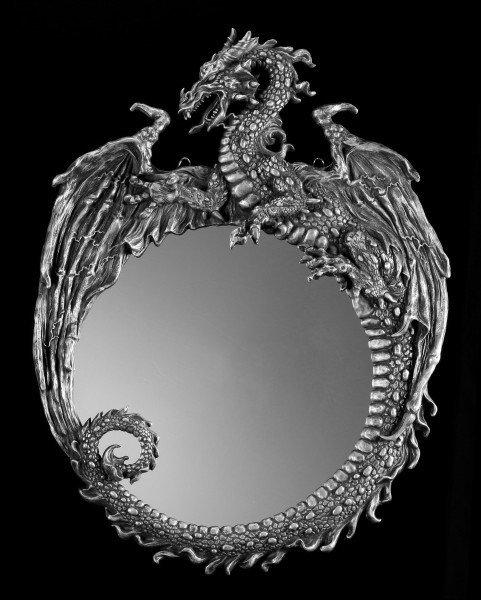 Großer Drachen Wandspiegel - Dark Beauty