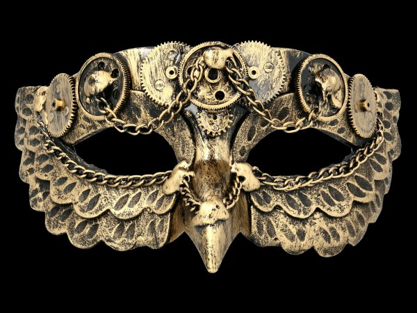 Steampunk Mask - Chain Owl