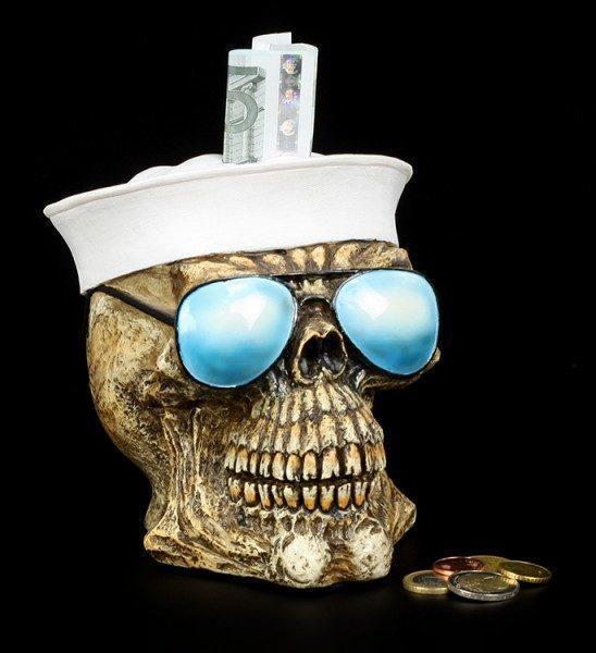 Totenkopf Spardose US Navy