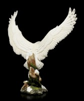 Snow Owl Figurine with spreaded Wings
