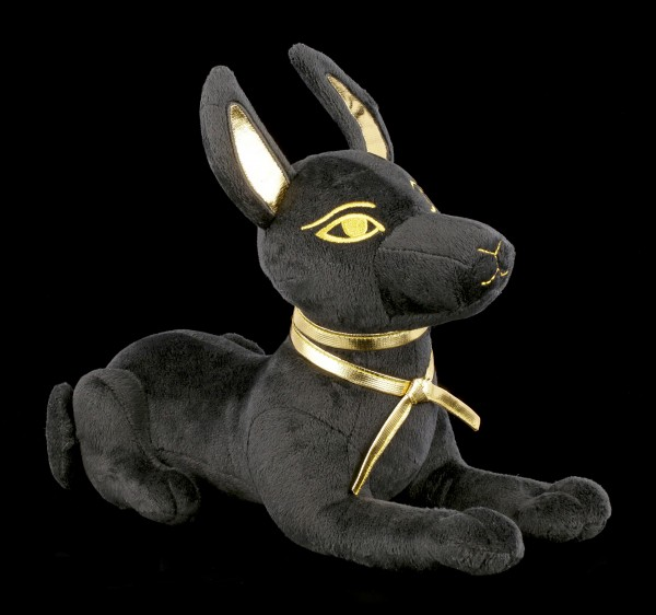 Egyptian Plush Figurine - Lying Anubis