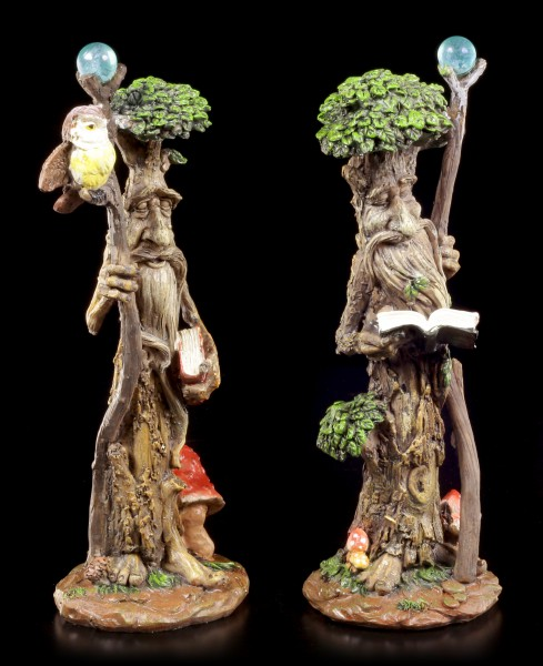 Forest Spirit Figurines - Scholarly Wise - Set of 2