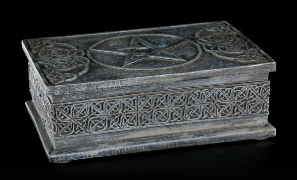 Celtic Box - Rectangular Black with Pentagram