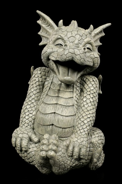 Garden Figurine - Dragon Laughy