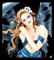Fairy Figurine on blue Moon - Fairy Land