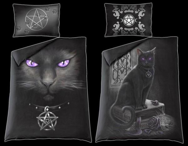 Spiral Gothic Bettwäsche - Black Cat