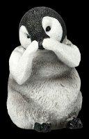 Drei weise Pinguin Figuren - Nichts Böses
