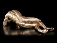 Männliche Akt Figur - Am Boden liegend - groß