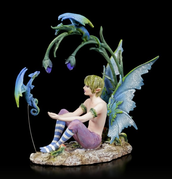 Elfen Figur - Junge Karim mit kleinen Drachen
