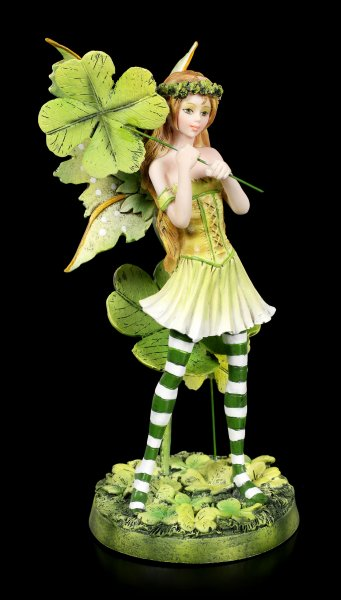 Fairy Figurine - Tanja with four-leaf Clover