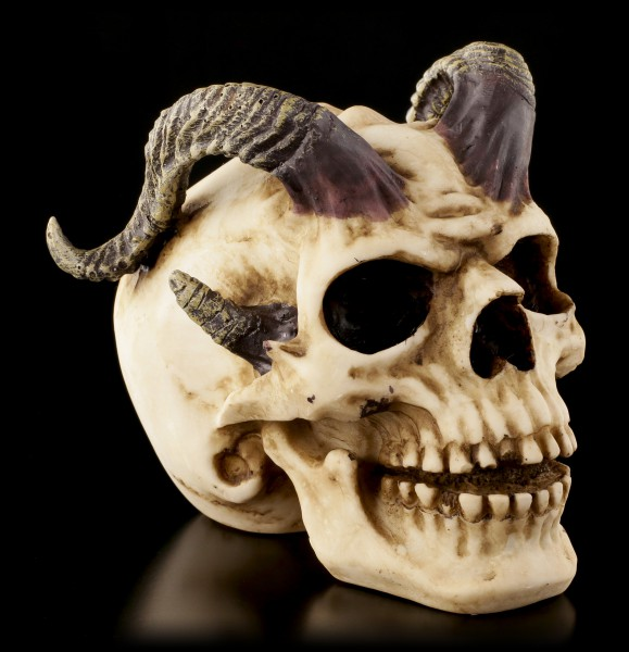 Totenkopf - Gehörnter Teufel