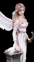 Angel of Peace Figurine - Velda with white Pigeon