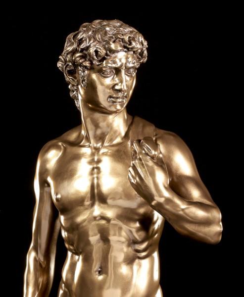 Große David Figur nach Michelangelo - bronziert