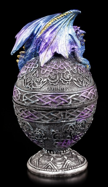 Faberge Egg Box - With blue Dragon