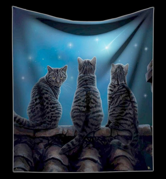Fluffy Blanket Cats - Wish Upon a Star by Lisa Parker