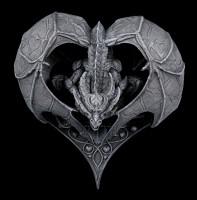 Wandrelief - Herz Drache