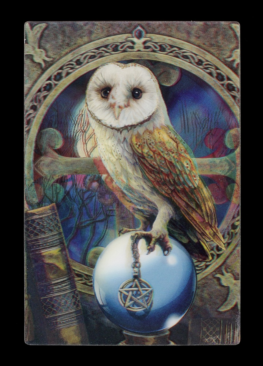 3D Postcard with Owl - Spell Keeper